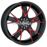 Sportmax Racing SR508 7,5x18 5x112/114,3 ET42 DIA67,1 (black red inserts)
